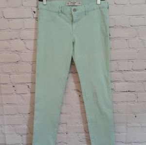 Abercrombie & Fitch Mint Green Skinny Jeans